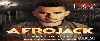 Afrojack Halloween 2018 party at Ocean Resort Casino HQ2 Nightclub