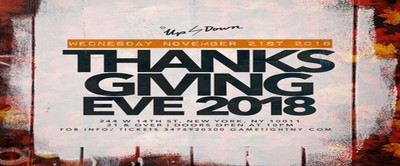 Up & Down Thanksgiving Eve Party 2018