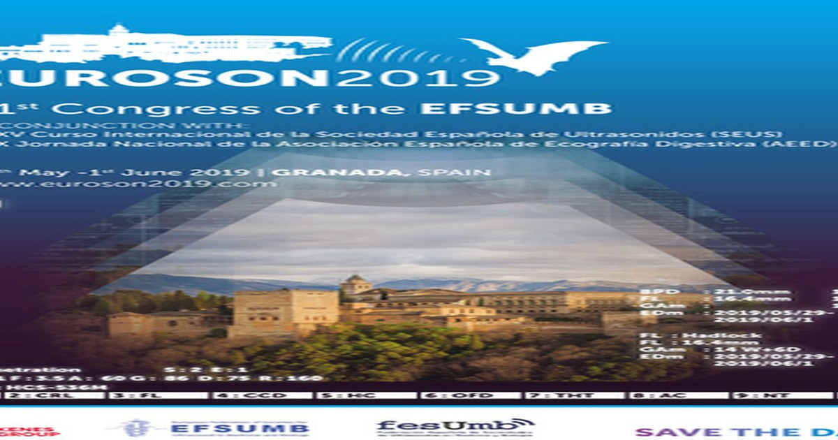 29 May 2019: EUROSON 2019 - 31st Congress of the EFSUMB - The