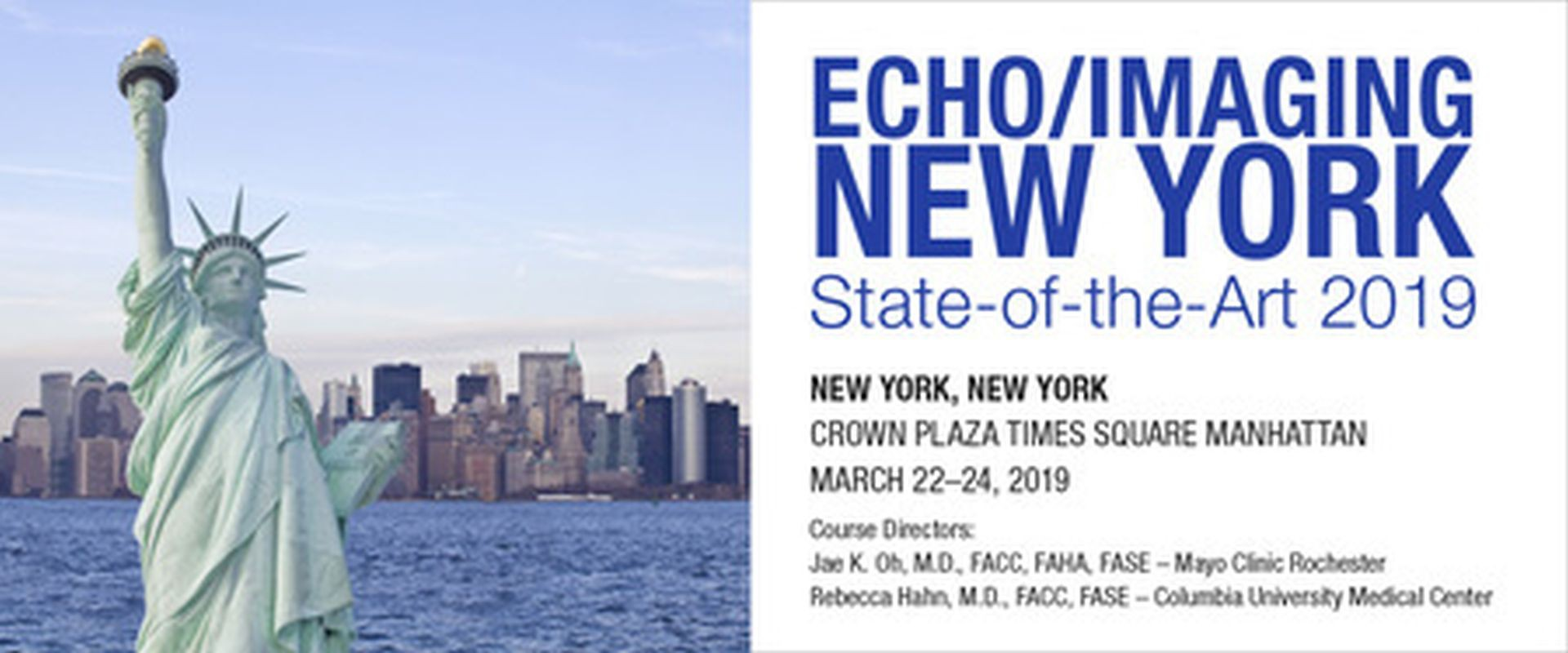 22 Mar 2019: Echo/Imaging New York: State-of-the-Art 2019 - The Echo