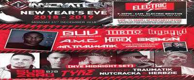 Innovation : New Years Eve at Electric Brixton w/ DJ Guv, Turno