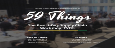 59 Things - Supply Chain Workshop - Melbourne