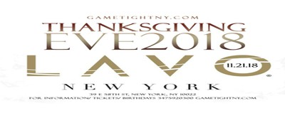 Lavo NY Thanksgiving Eve party 2018