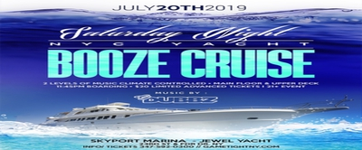 New York Saturday Midnight Yacht Party Booze Cruise