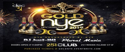 """GOLD"" NYE 2019 inside SF's all new 251 Club"