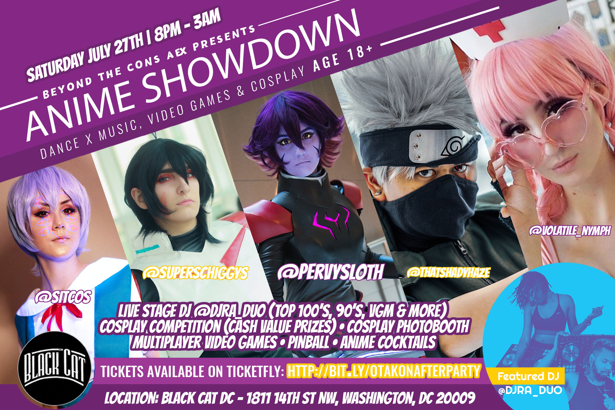 Aex Anime 27 jul 2019: beyond the cons aex presents: anime showdown